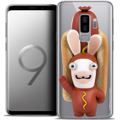 "Coque Gel Samsung Galaxy S9+ (6.2"") Extra Fine Lapins Crétins™ - Hot Dog Crétin"