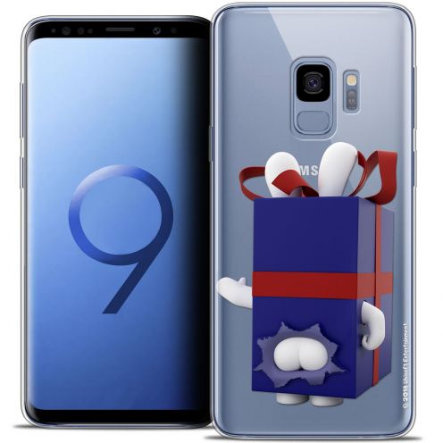 "Coque Gel Samsung Galaxy S9 (5.8"") Extra Fine Lapins Crétins™ - Lapin Surprise Bleu"