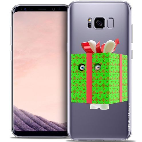 Coque Gel Samsung Galaxy S8 (G950) Extra Fine Lapins Crétins™ - Lapin Surprise Vert