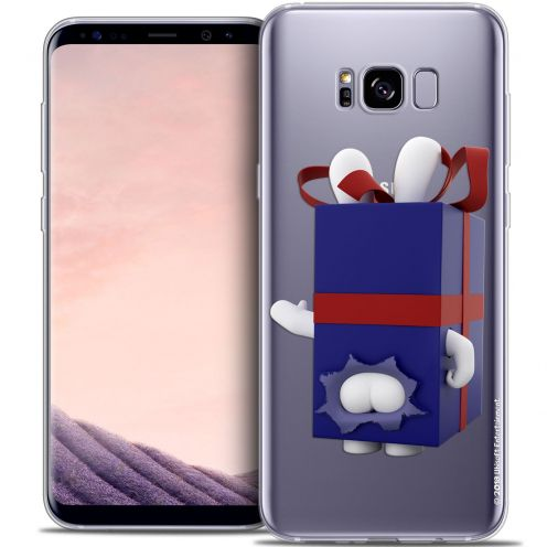 Coque Gel Samsung Galaxy S8 (G950) Extra Fine Lapins Crétins™ - Lapin Surprise Bleu