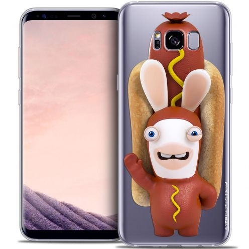 Coque Gel Samsung Galaxy S8+/ Plus (G955) Extra Fine Lapins Crétins™ - Hot Dog Crétin