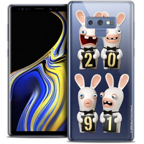 """Coque Gel Samsung Galaxy Note 9 (6.4"""") Extra Fine Lapins Crétins™ - New Year"""
