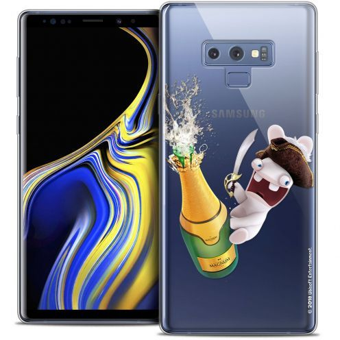"Coque Gel Samsung Galaxy Note 9 (6.4"") Extra Fine Lapins Crétins™ - Champagne !"