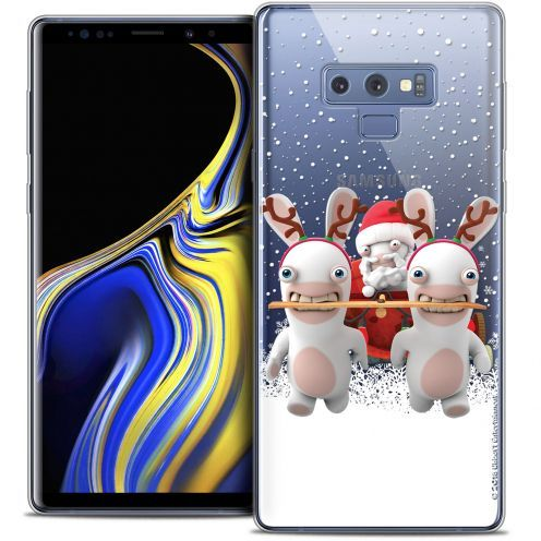 "Coque Gel Samsung Galaxy Note 9 (6.4"") Extra Fine Lapins Crétins™ - Lapin Traineau"