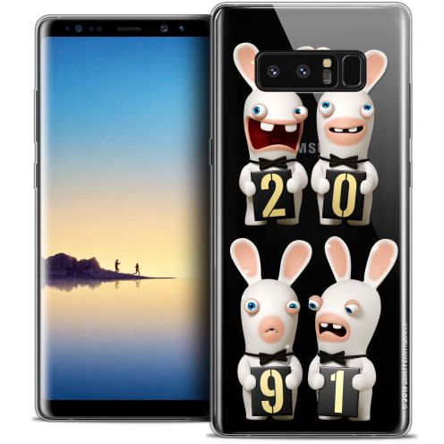 """Coque Gel Samsung Galaxy Note 8 (6.3"""") Extra Fine Lapins Crétins™ - New Year"""