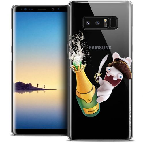 """Coque Gel Samsung Galaxy Note 8 (6.3"""") Extra Fine Lapins Crétins™ - Champagne !"""