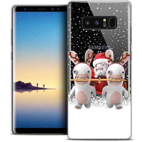 """Coque Gel Samsung Galaxy Note 8 (6.3"""") Extra Fine Lapins Crétins™ - Lapin Traineau"""