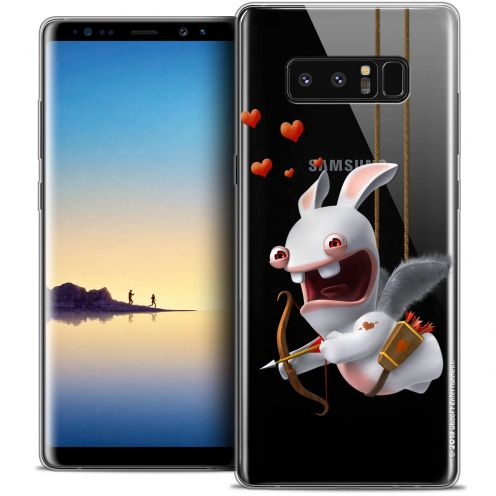 """Coque Gel Samsung Galaxy Note 8 (6.3"""") Extra Fine Lapins Crétins™ - Flying Cupidon"""