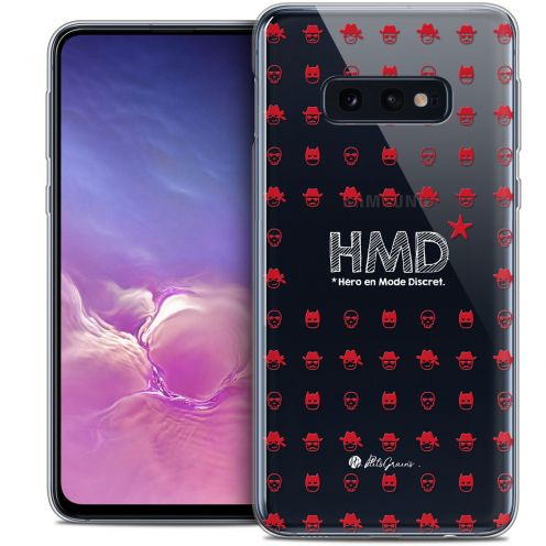 "Coque Gel Samsung Galaxy S10e (5.8"") Extra Fine Petits Grains® - HMD* Hero en Mode Discret"