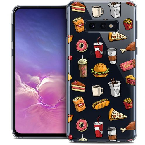 "Coque Crystal Gel Samsung Galaxy S10e (5.8"") Extra Fine Foodie - Fast Food"
