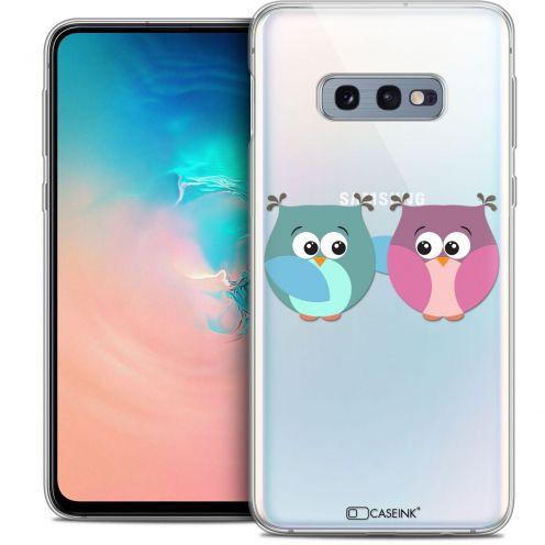 "Coque Crystal Gel Samsung Galaxy S10e (5.8"") Extra Fine Love - Hibous à deux"