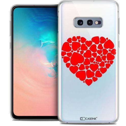 """Coque Crystal Gel Samsung Galaxy S10e (5.8"""") Extra Fine Love - Coeur des Coeurs"""