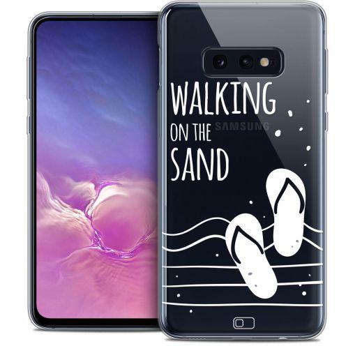 "Coque Crystal Gel Samsung Galaxy S10e (5.8"") Extra Fine Summer - Walking on the Sand"