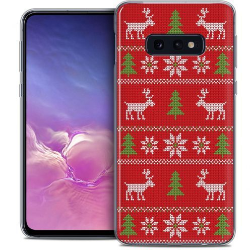 """Coque Crystal Gel Samsung Galaxy S10e (5.8"""") Extra Fine Noël 2017 - Couture Rouge"""