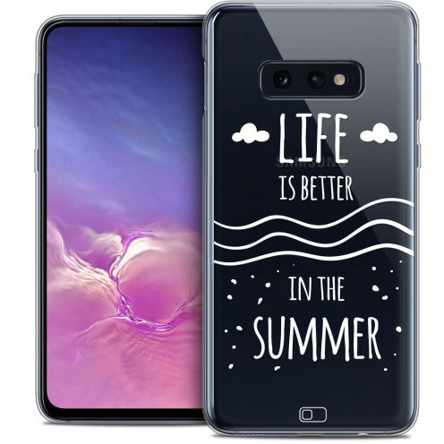 "Coque Crystal Gel Samsung Galaxy S10e (5.8"") Extra Fine Summer - Life's Better"