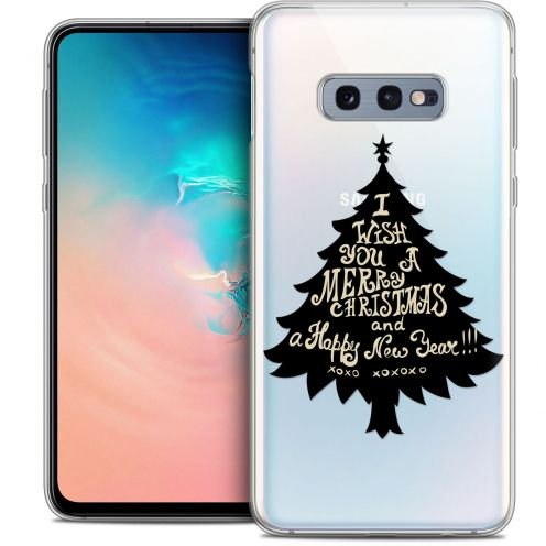 "Coque Crystal Gel Samsung Galaxy S10e (5.8"") Extra Fine Noël 2017 - XOXO Tree"