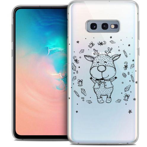 "Coque Crystal Gel Samsung Galaxy S10e (5.8"") Extra Fine Noël 2017 - Sketchy Cerf"