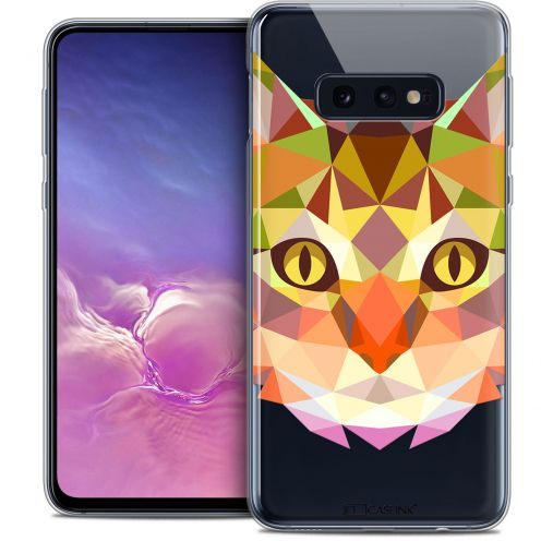 "Coque Crystal Gel Samsung Galaxy S10e (5.8"") Extra Fine Polygon Animals - Chat"