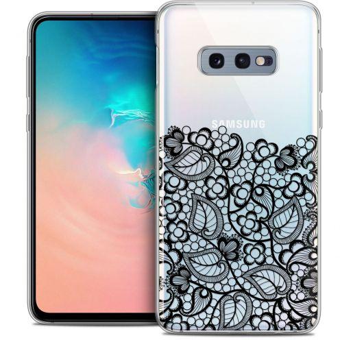 """Coque Crystal Gel Samsung Galaxy S10e (5.8"""") Extra Fine Spring - Bas dentelle Noir"""
