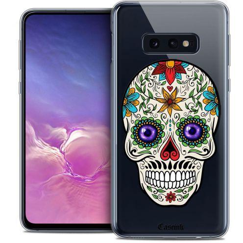 "Coque Crystal Gel Samsung Galaxy S10e (5.8"") Extra Fine Skull - Maria's Flower"