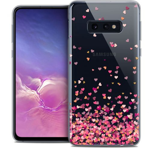 "Coque Crystal Gel Samsung Galaxy S10e (5.8"") Extra Fine Sweetie - Heart Flakes"