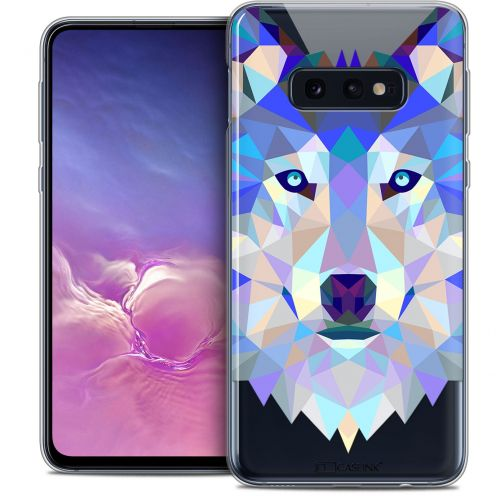 "Coque Crystal Gel Samsung Galaxy S10e (5.8"") Extra Fine Polygon Animals - Loup"
