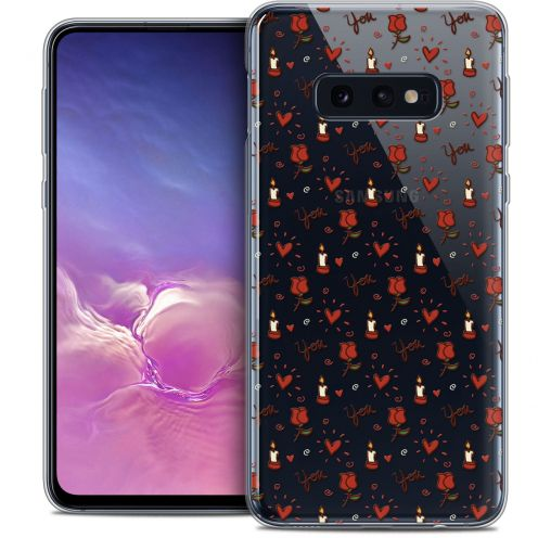 """Coque Crystal Gel Samsung Galaxy S10e (5.8"""") Extra Fine Love - Bougies et Roses"""
