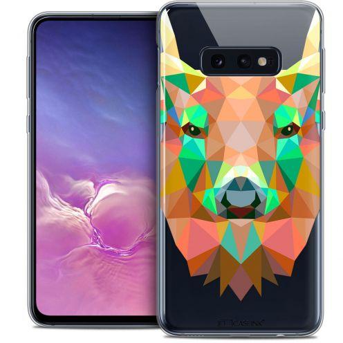 "Coque Crystal Gel Samsung Galaxy S10e (5.8"") Extra Fine Polygon Animals - Cerf"