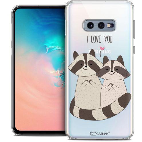 "Coque Crystal Gel Samsung Galaxy S10e (5.8"") Extra Fine Sweetie - Racoon Love"