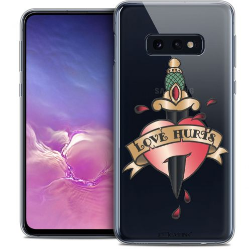 "Coque Crystal Gel Samsung Galaxy S10e (5.8"") Extra Fine Tatoo Lover - Love Hurts"