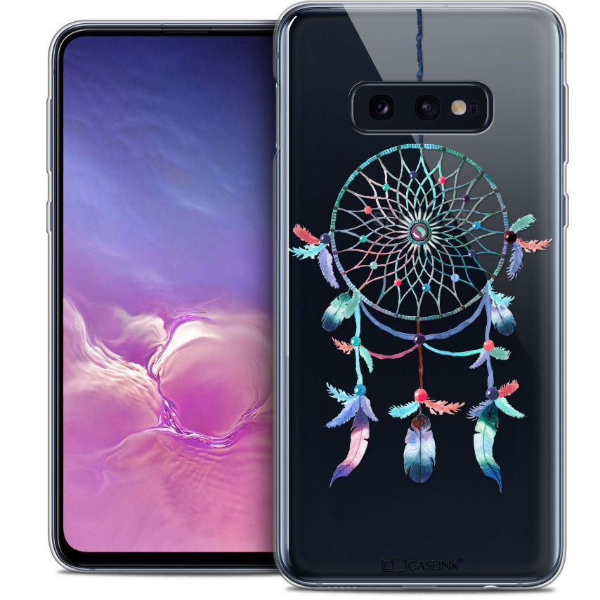 "Coque Crystal Gel Samsung Galaxy S10e (5.8"") Extra Fine Dreamy - Attrape Rêves Rainbow"