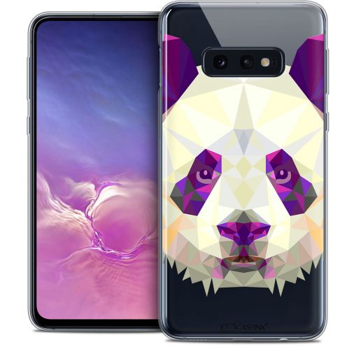 "Coque Crystal Gel Samsung Galaxy S10e (5.8"") Extra Fine Polygon Animals - Panda"