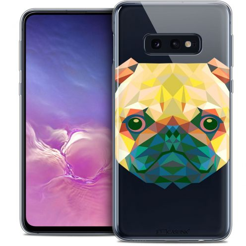 "Coque Crystal Gel Samsung Galaxy S10e (5.8"") Extra Fine Polygon Animals - Chien"
