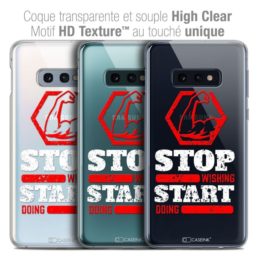 """Coque Crystal Gel Samsung Galaxy S10e (5.8"""") Extra Fine Quote - Start Doing"""