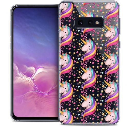 "Coque Crystal Gel Samsung Galaxy S10e (5.8"") Extra Fine Fantasia - Licorne Etoilée"