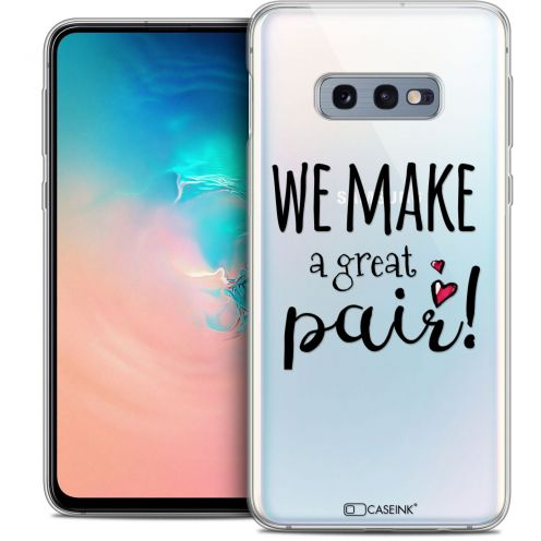 "Coque Crystal Gel Samsung Galaxy S10e (5.8"") Extra Fine Love - We Make Great Pair"