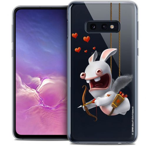 """Coque Gel Samsung Galaxy S10e (5.8"""") Extra Fine Lapins Crétins™ - Flying Cupidon"""