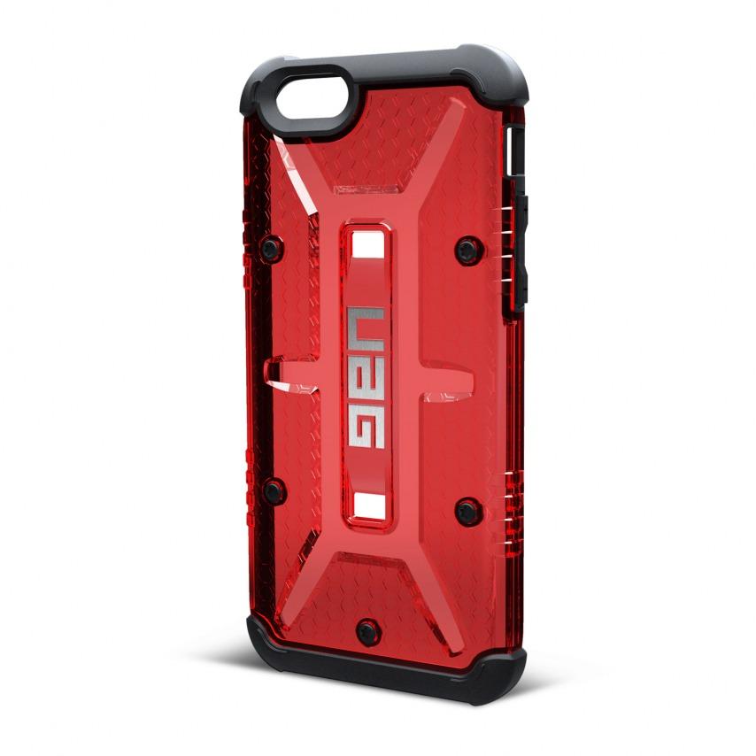 Vue complémentaire de Coque Antichoc iPhone 6 / 6s Urban Armor Gear® UAG Magma Rouge