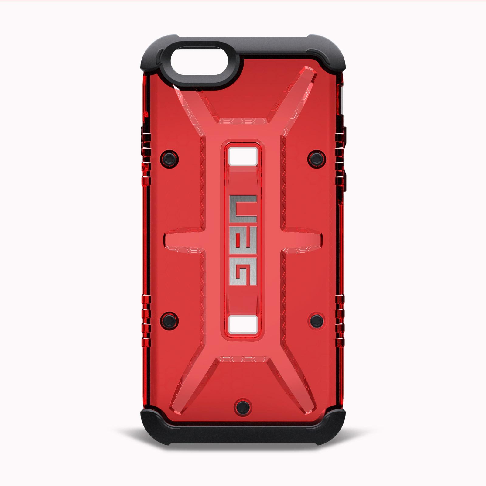 coque antichoc iphone 6s 6 urban armor gear uag magma rouge. Black Bedroom Furniture Sets. Home Design Ideas