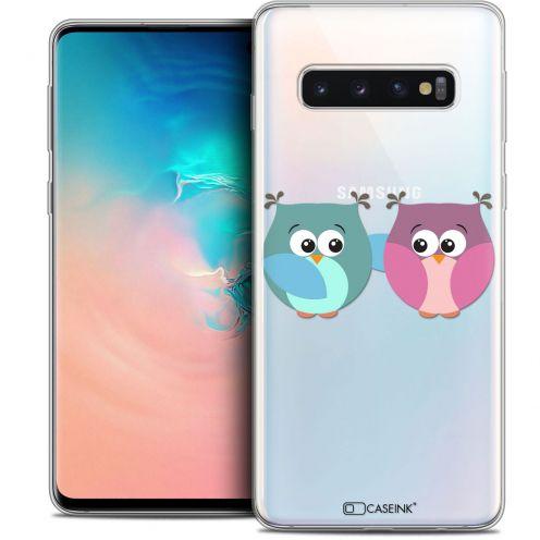 "Coque Crystal Gel Samsung Galaxy S10 (6.1"") Extra Fine Love - Hibous à deux"