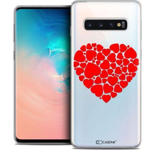 """Coque Crystal Gel Samsung Galaxy S10 (6.1"""") Extra Fine Love - Coeur des Coeurs"""
