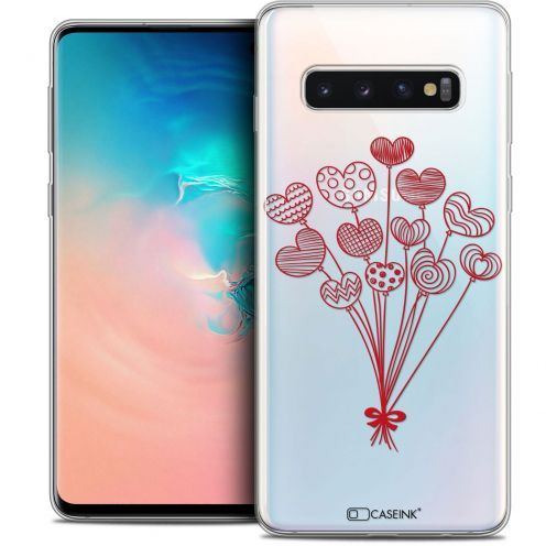 """Coque Crystal Gel Samsung Galaxy S10 (6.1"""") Extra Fine Love - Ballons d'amour"""