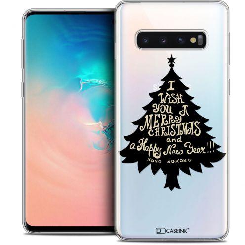 "Coque Crystal Gel Samsung Galaxy S10 (6.1"") Extra Fine Noël 2017 - XOXO Tree"