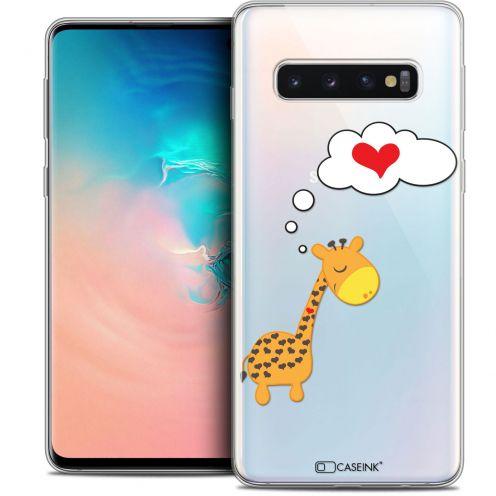 "Coque Crystal Gel Samsung Galaxy S10 (6.1"") Extra Fine Love - Girafe Amoureuse"