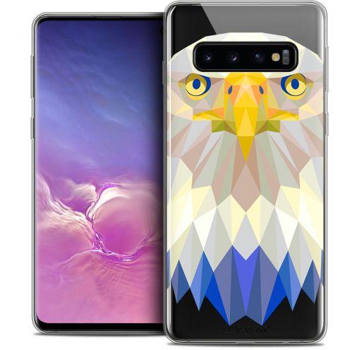 "Coque Crystal Gel Samsung Galaxy S10 (6.1"") Extra Fine Polygon Animals - Aigle"