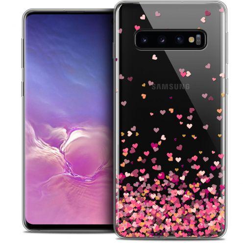 "Coque Crystal Gel Samsung Galaxy S10 (6.1"") Extra Fine Sweetie - Heart Flakes"