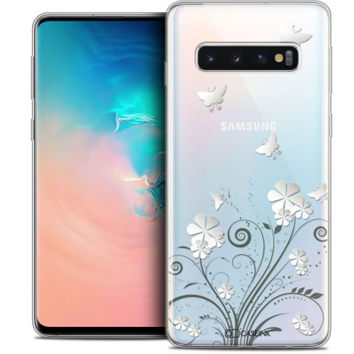 """Coque Crystal Gel Samsung Galaxy S10 (6.1"""") Extra Fine Summer - Papillons"""