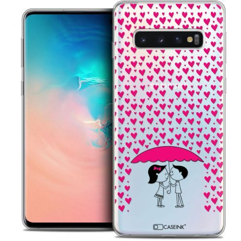 "Coque Crystal Gel Samsung Galaxy S10 (6.1"") Extra Fine Love - Pluie d'Amour"