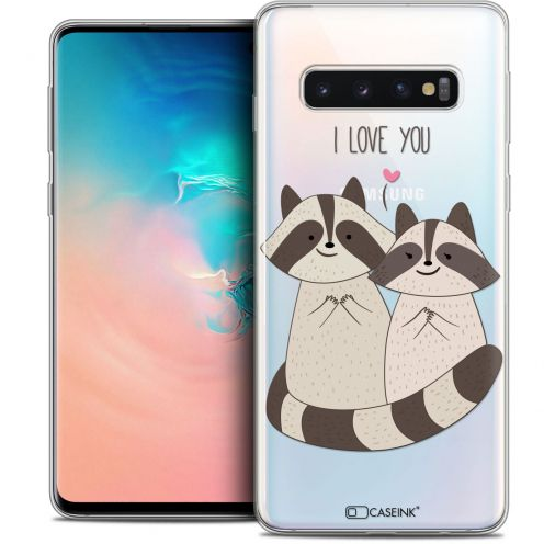 "Coque Crystal Gel Samsung Galaxy S10 (6.1"") Extra Fine Sweetie - Racoon Love"
