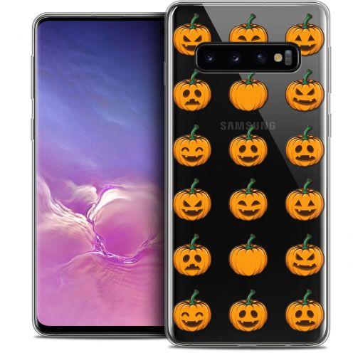 "Coque Crystal Gel Samsung Galaxy S10 (6.1"") Extra Fine Halloween - Smiley Citrouille"